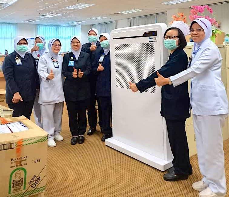 MayAir Covid Donation Sg Buloh Hospital