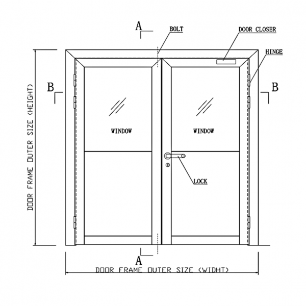 Pharmaceutical DL1 Door System Drawing